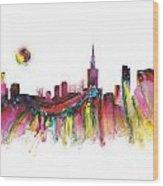 Skyline Warsaw Wood Print