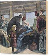 Smallpox Vaccination, 1885 Wood Print