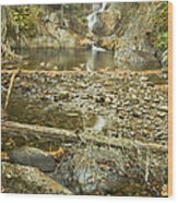 Smalls Falls In Autumn Western Maine Wood Print
