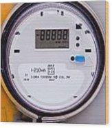 Smart Grid Residential Digital Power Supply Meter Wood Print