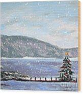 Smith Mountain Lake Christmas Wood Print