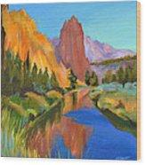 Smith Rock Canyon Wood Print
