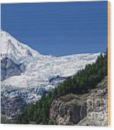Snow Glacier Wood Print