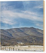 Snowy High Peak Mountain Wood Print