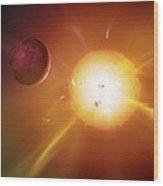 Solar System Formation, Artwork Wood Print