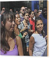 Some Young Ladies Enjoying The 2009 Cleansing Of 46th Street Wood Print
