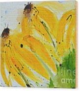 Sonnenhut -  Floral Painting  Wood Print
