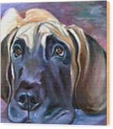Soulful - Great Dane Wood Print by Lyn Cook