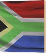 South African Flag  Wood Print