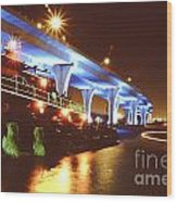 South Beach Bridge Wood Print