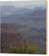 South Rim View Wood Print