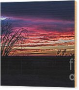 Southwest Sunset Wood Print