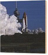 Space Shuttle Challenger  Wood Print by Retro Images Archive