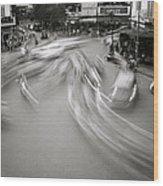 Swirling Motion Wood Print