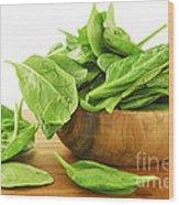 Spinach Wood Print by Elena Elisseeva