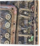Spinal Column Wood Print