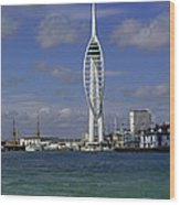 Spinnaker Tower Wood Print