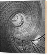 Spiral Staircase Wood Print
