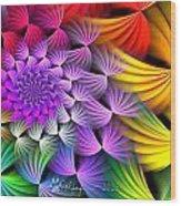 Spiral Swirls Wood Print
