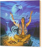 Spirit Of The Eagle Wood Print