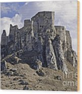 Spissky Hrad Castle Wood Print