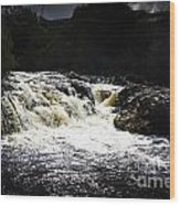 Splashing Australian Water Stream Or Waterfall Wood Print