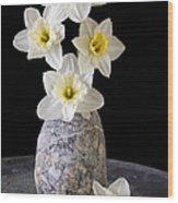 Spring Daffodils Wood Print by Edward Fielding