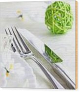 Spring Table Setting Wood Print