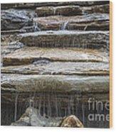 Spring Waterfall Wood Print
