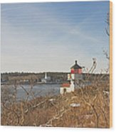 Squirrel Point Lighthouse Kennebec River Maine Wood Print