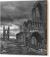 St Andrews Cathedral And Gravestones Wood Print