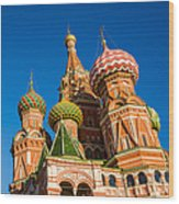 St. Basil's Cathedral - Square Wood Print