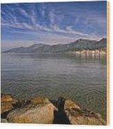 St Florent In Corsica Wood Print
