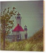 St. Joseph North Pier Lighthouse Lake Michigan. Wood Print