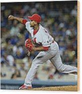 St Louis Cardinals V Los Angeles Dodgers Wood Print