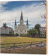St. Louis Cathedral IIi Wood Print
