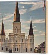 St. Louis Cathedral Va Wood Print