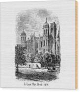 St. Louis High School - 1874 Wood Print