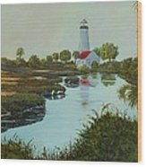 St. Marks Lighthouse Wood Print
