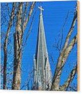 St. Marys Church Steeple Of St Marys Church Wood Print