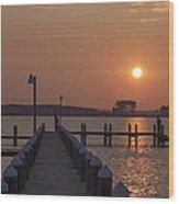 St Marys County Maryland Sunrise Wood Print