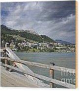 St Moritz Wood Print