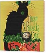 St Patrick's Day - Le Chat Noir Wood Print