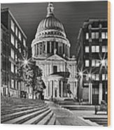 St Paul's London Wood Print
