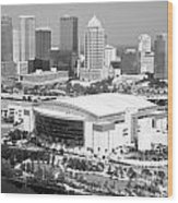 St. Pete Times Forum And Tampa Skyline Wood Print