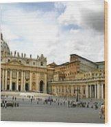 St. Peter's Square Wood Print