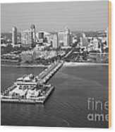 St Petersburg Skyline And Pier Wood Print