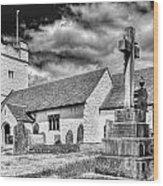 St Sannans Church Bedwellty 2 Mono Wood Print