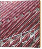 Stadium Seats Wood Print