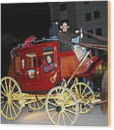 Stagecoach Wood Print